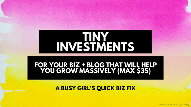 Micro investment, cheap services for bloggers and business owners