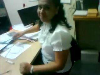 mature secretary doing her boss
