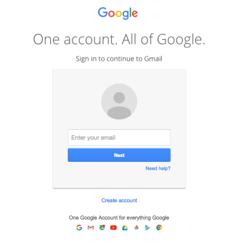 Log in to your gmail account.