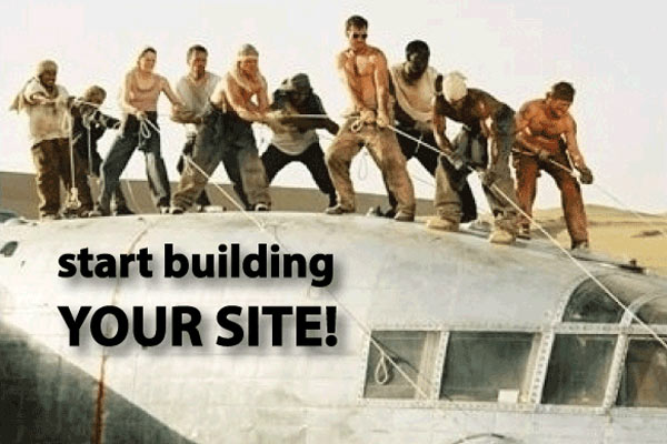 start building your site