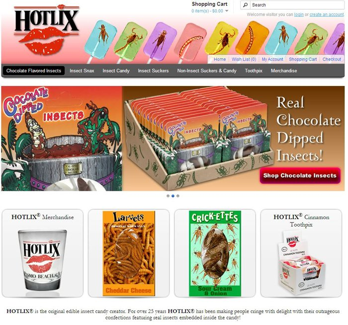 hotlix insect snacks