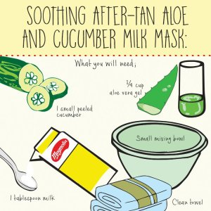 Soothing After-Tan Aloe and Cucumber Milk Mask