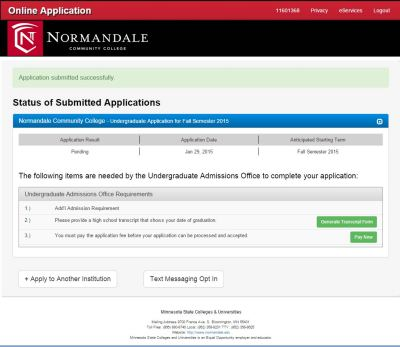 Apply | Normandale Community College