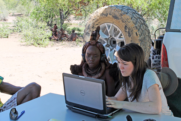 Post-doctoral psychology researcher Maria Gendron travelled to Namibia to investigate whether individuals from non-Western cultures recognize the same emotions as Westerners do in facial expressions and vocalizations. Photo courtesy of Maria Gendron.