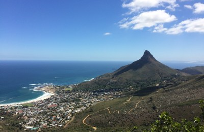 The view of Lion's Head from a hike up Table Mountain in South Africa.
