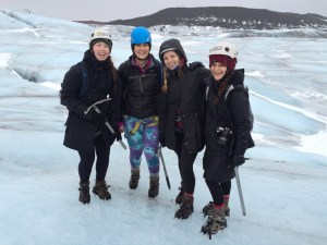 Sahakian hiked Skaftafell Glacier in Iceland with her friends. (courtesy photo)