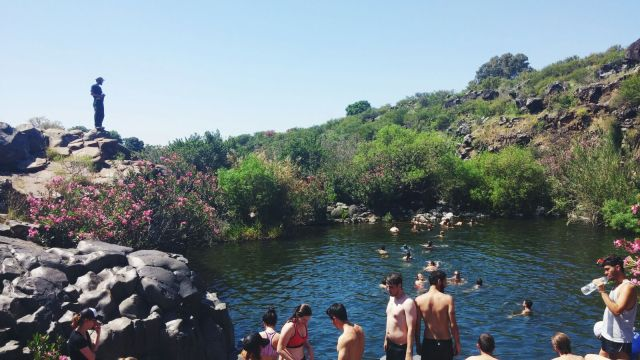 Tali Soroker took this picture during a trip to the north of the country where they went hiking for a couple of days to small rivers. This was a swimming hole they found in Nachal Zavitan.