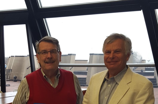 Physics professor Tomasz Taylor, right, a US Fulbright scholar and Foreign Member of Polish Academy of Arts and Sciences with Stephen Parke, left (courtesy photo)