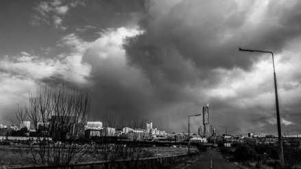 Manchester- black and white shot by Chris Payne