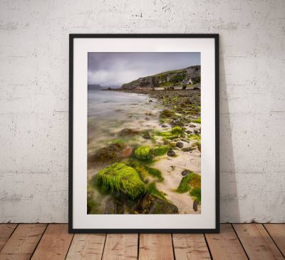 Isle of Skye Landscape photo, Elgol, Cottage, Scotland,  Scottish Highlands, Beach, Coast, Escape, Wall Art