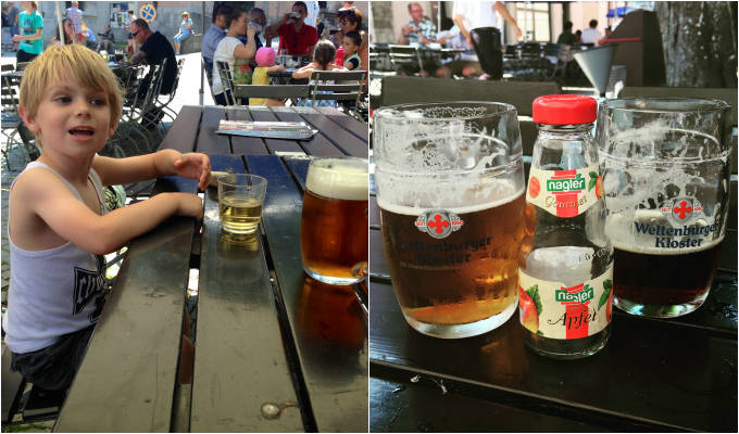 Weltenburg Biergarten Kinder