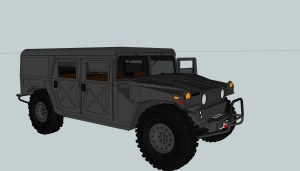 3D Model Tremor MUV with wagon top.