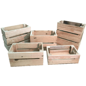 mini oak wooden crates