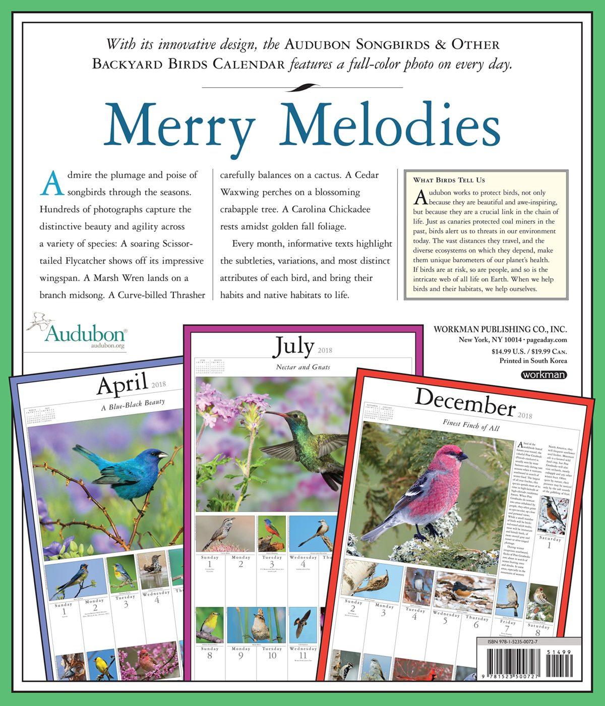 Clever Or Backyard Birds 2018 Wall Calendar Target 2018 Wall Calendar Pdf 2018 Wall Calendar Audubon Songbirds Or Backyard Birds 2018 Wall Calendar Audubon Songbirds inspiration 2018 Wall Calendar