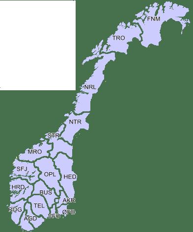 Norge fylker 3b