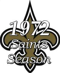 New Orleans Saints 1972 NFL Season