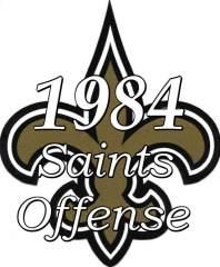 1984 New Orleans Saints Offense