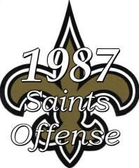 1987 New Orleans Saints Offense