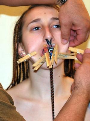 nose ring leash bondage