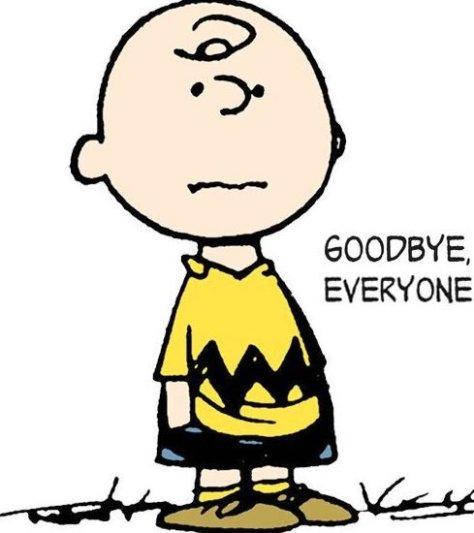 CHarlie Brown Goodbye