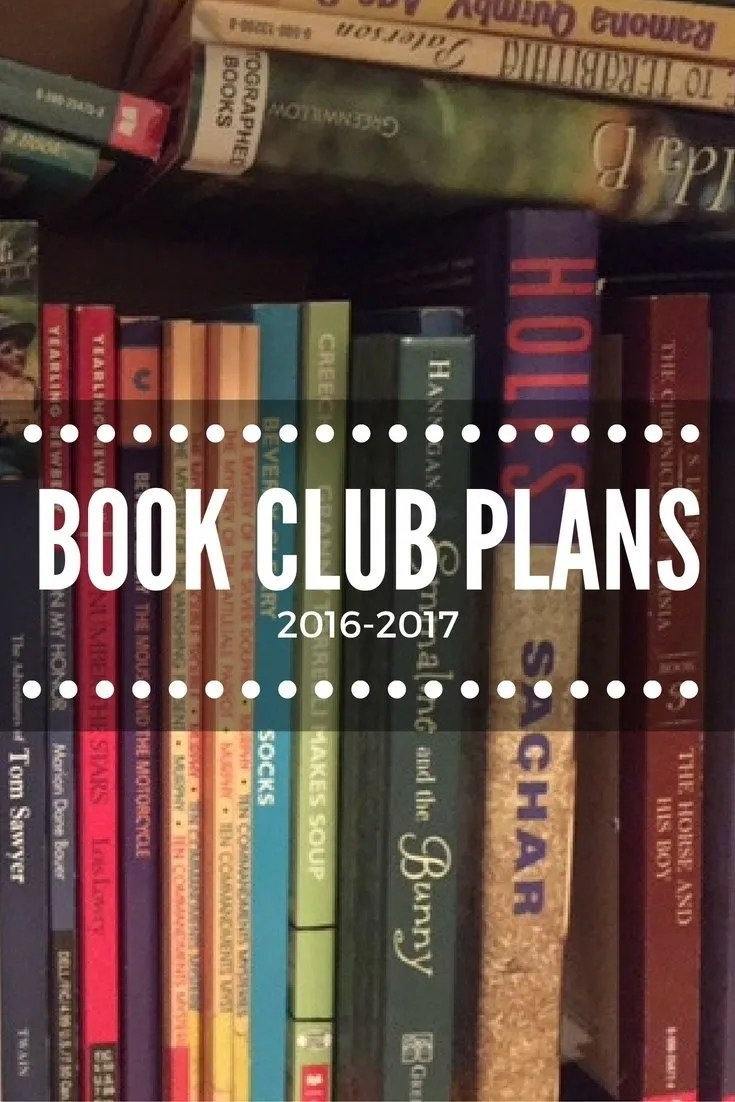 My Children's Book Club Plans this Year