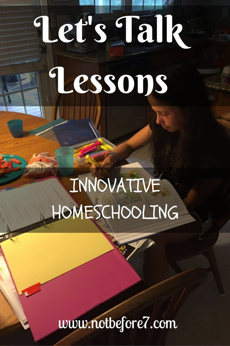 Innovative Education:  Let's talk Lessons