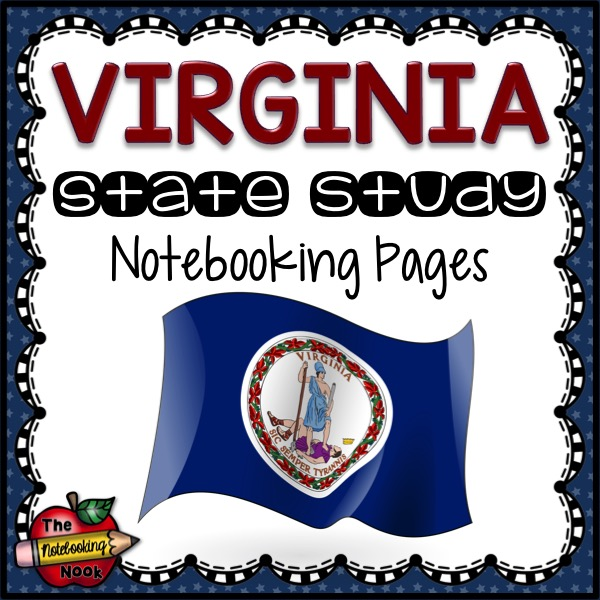 Virginia State Study Notebooking Pages