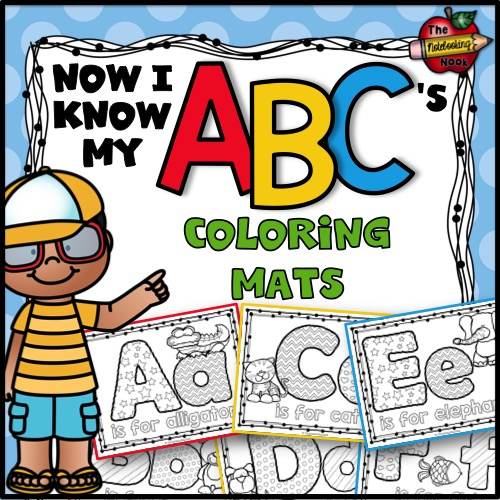 Now I Know My ABC's Animal Coloring Mats
