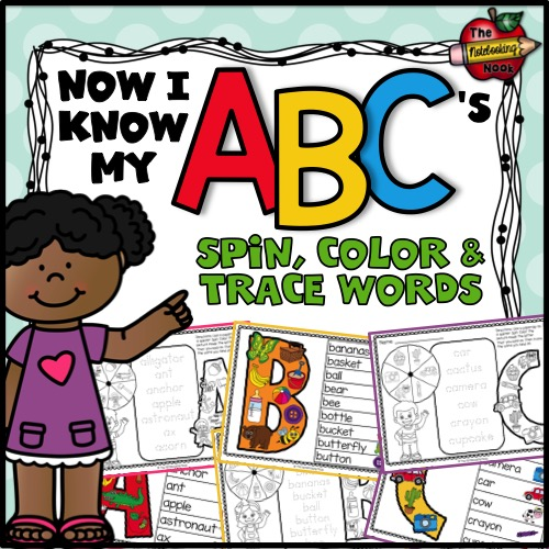 Now I Know My ABC's Spin, Color and Trace Words