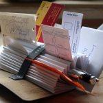 field notes desk organizer