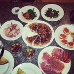 The resulting tapas feast!