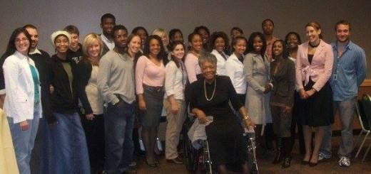 Maya Angelou visit at Oakland University in MI 2006