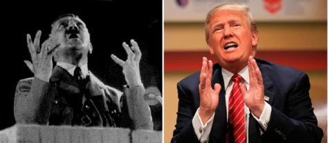 Adolf Hitler and Donald Trump use emotional drama.