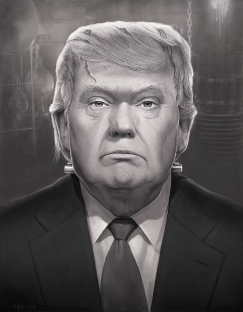 image of donald trump as frankenstein's monster