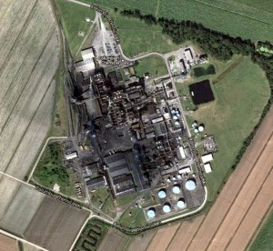 aerial image of the Columbian Chemicals Co. plant in Centerville, LA circa 2013