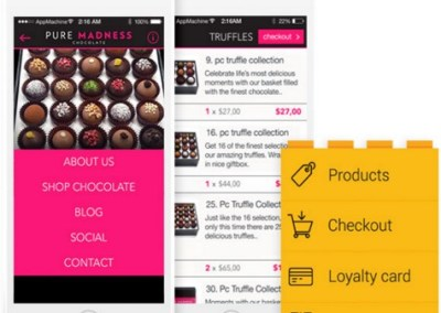 Pure Madness Chocolate Mobile Shopping App
