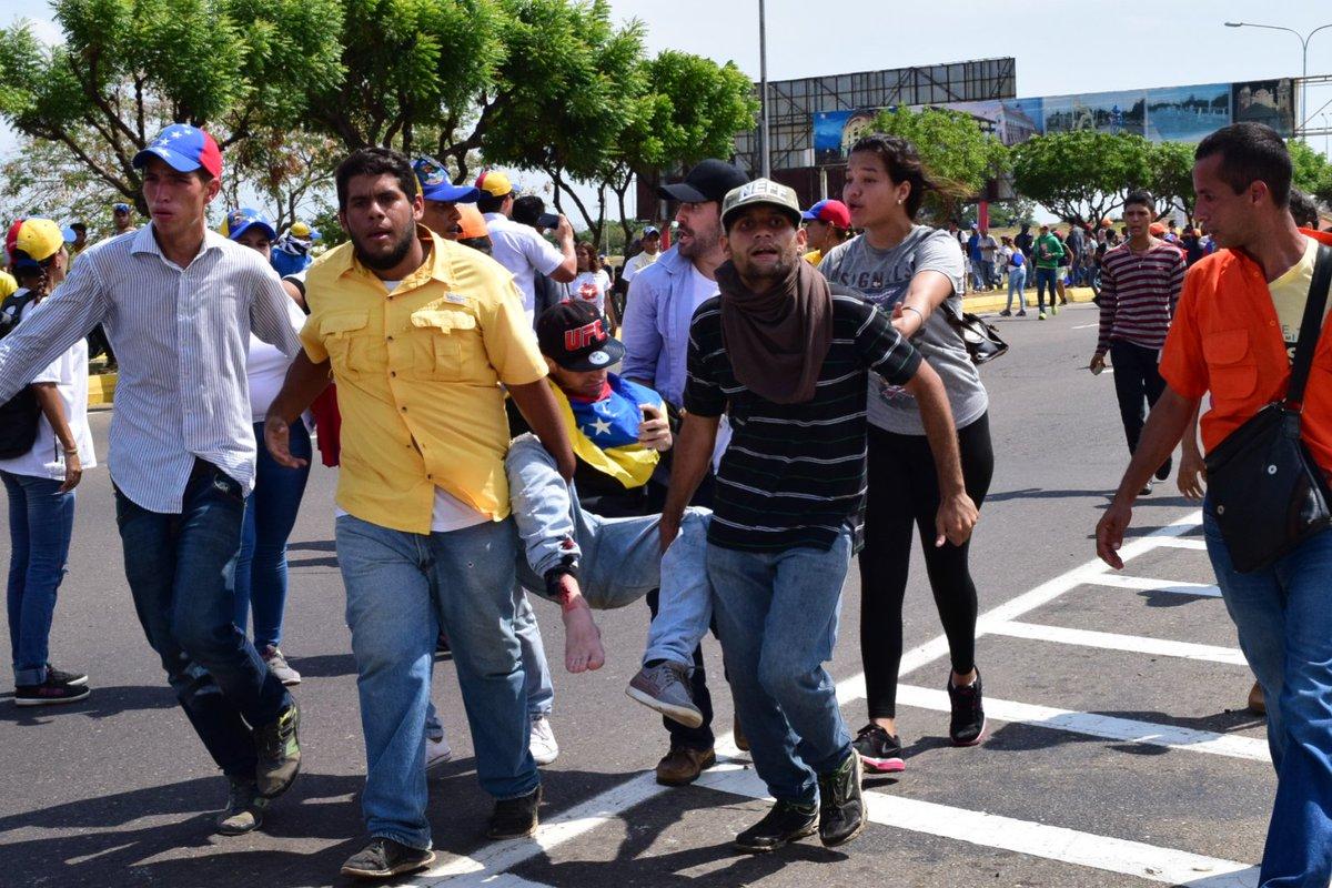 Un muerto y cuatro heridos dejó la marcha de Zulia (Imágenes)
