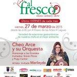 Menú Gastronómico y Musical Este Viernes En Al Fresco