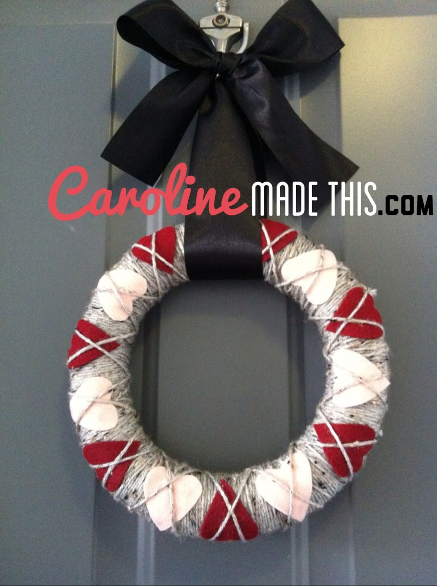 How to: Valentine's Day Wreath