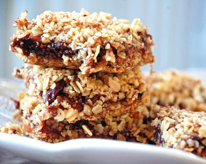 These cherry oat bars are the perfect gluten-free healthy snack or dessert.