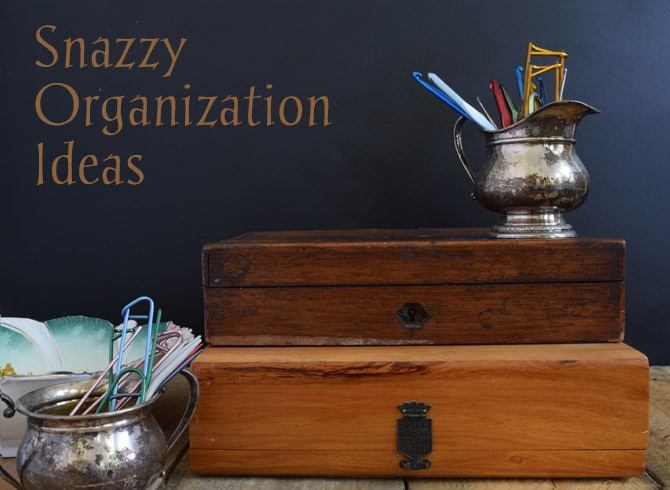 Snazzy Organization Ideas : 7 Styles at www.NourishandNestle.com
