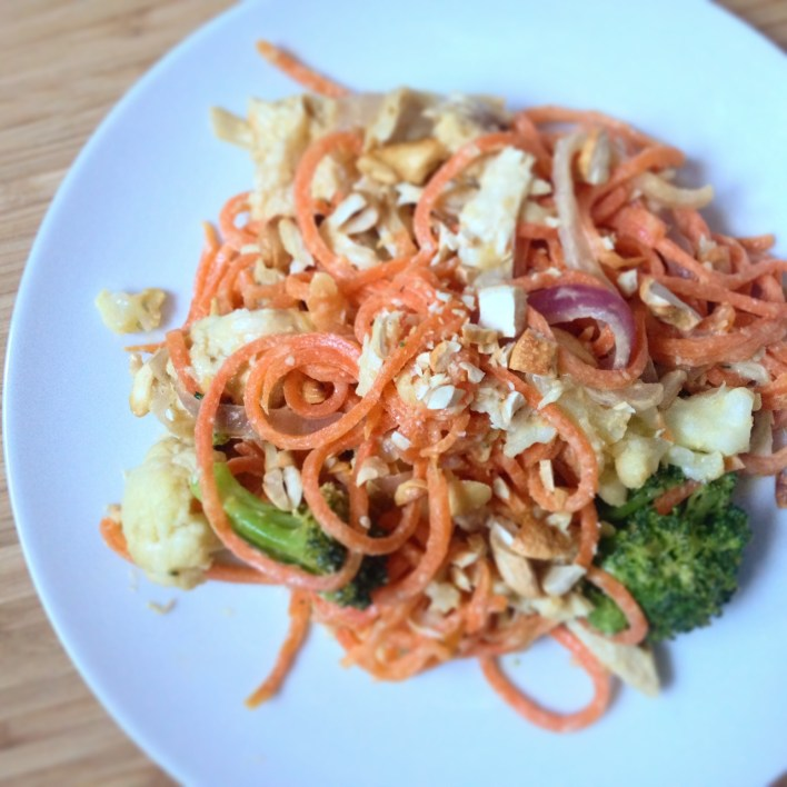 Tahini chicken carrot noodles