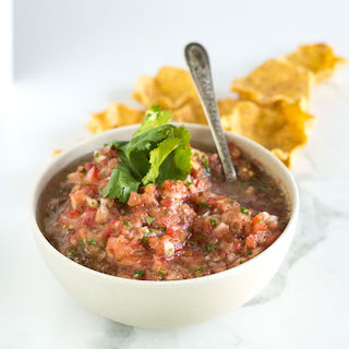 Easy Homemade Salsa | nourishedtheblog.com | feature image