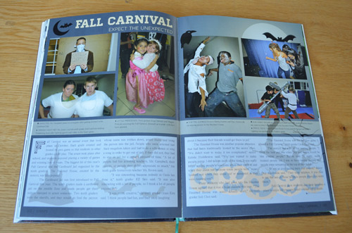 Yearbook 2 page spread