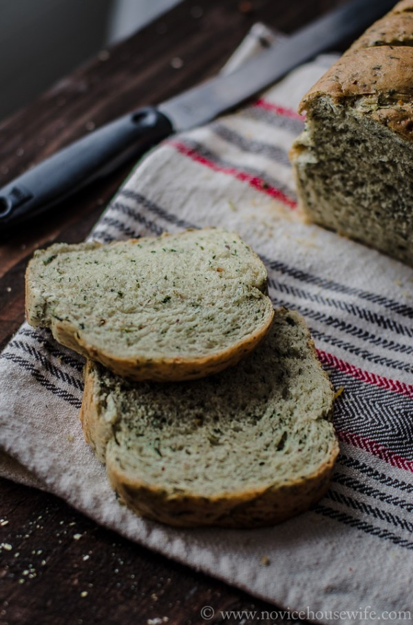 Spinach Bread The Novice Housewife