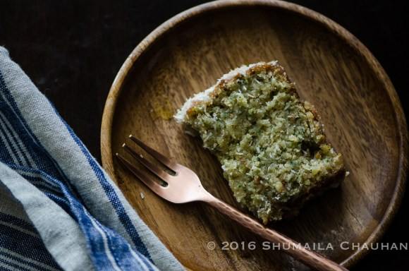 Zucchini & Coconut Bread with Coconut Rum Lime glaze - The ...