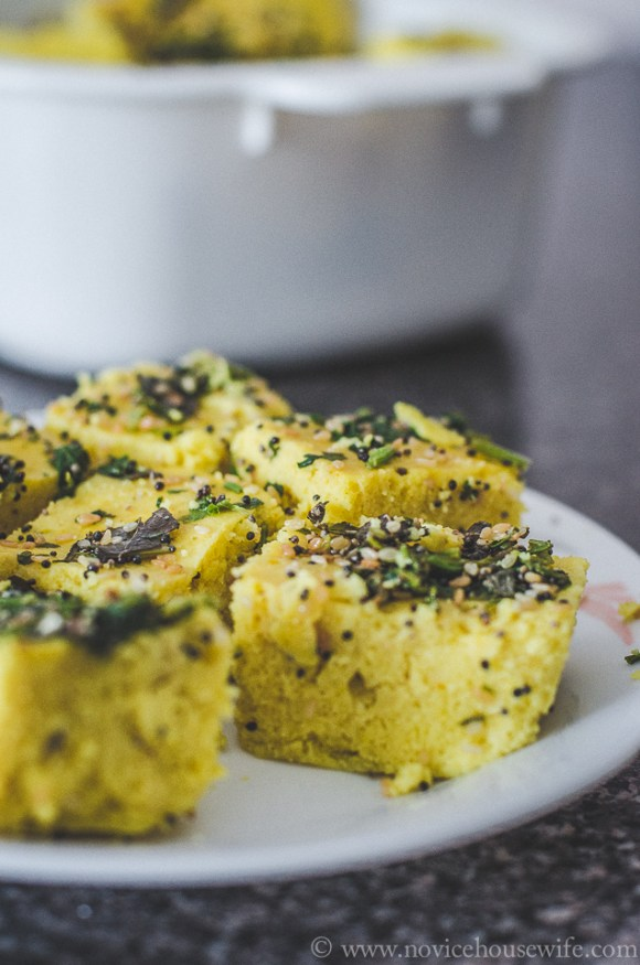 Gluten free microwave dhokla The Novice Housewife
