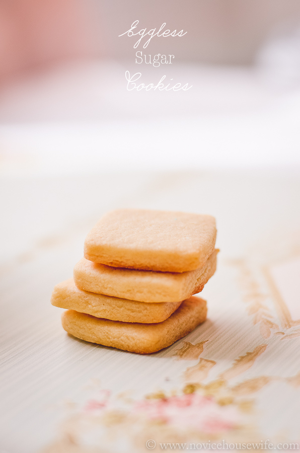 Eggless sugar cookies-4