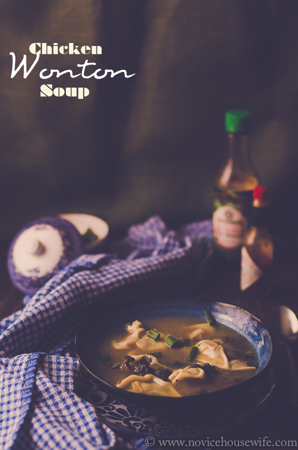Chicken Wonton Soup | The Novice Housewife