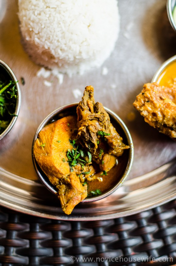 The chicken curry at Assam Bhavan, Delhi | The Novice Housewife